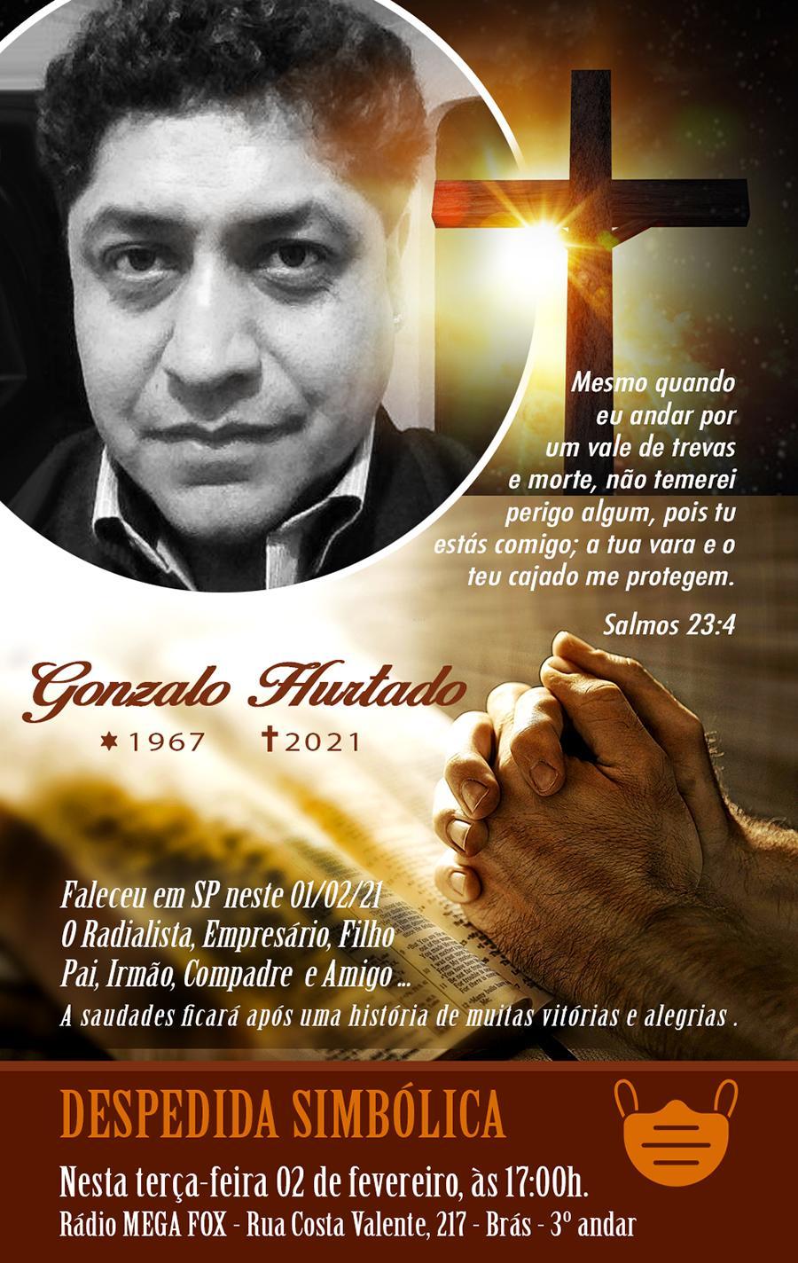 Falece em São Paulo o Comunicador e empresário Gonzalo Hurtado