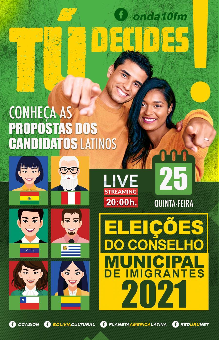 LIVE - DEBATE: Imigrantes candidatos ao conselho participativo da Prefeitura de São Paulo.