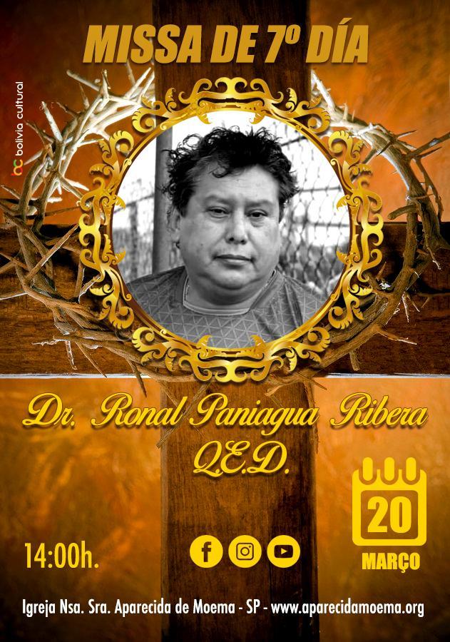 Missa ONLINE de 7º día de quem em vida foi Dr. Ronald Roger Paniagua Robera