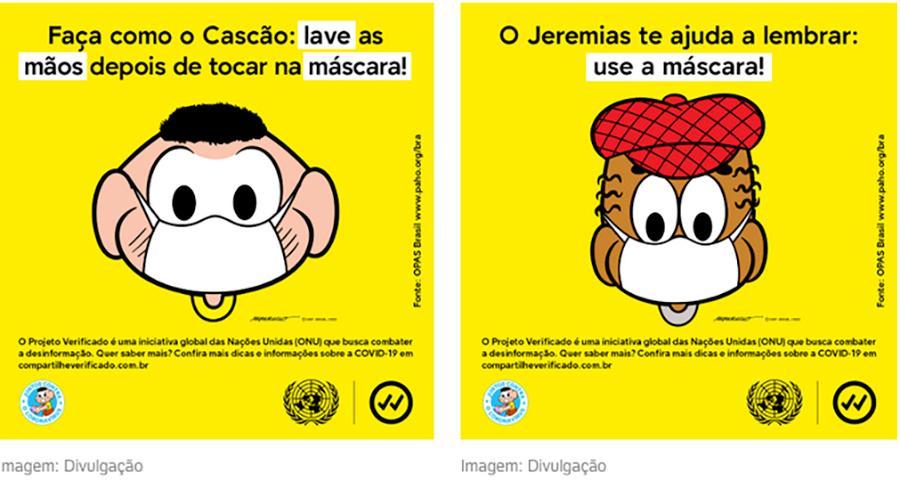 Use máscara! Turma da Mônica se une a ONU em campanha por proteção