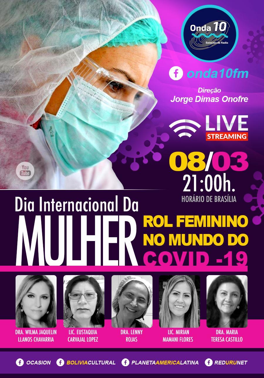 LIVE - Ilustra a participação da mulher boliviana na linha de frenbte no combate ao COVID-19 no Brasil