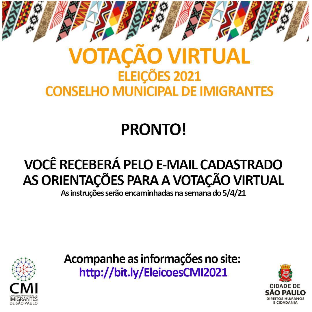 Eleições do Conselho Municipal de Imigrantes vai até 29 de março