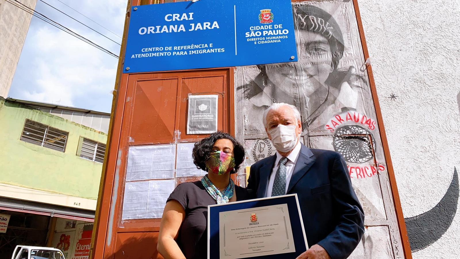 O Centro de Referência e Atendimento para Imigrantes (CRAI), passa a se chamar Oriana Jara Maculet