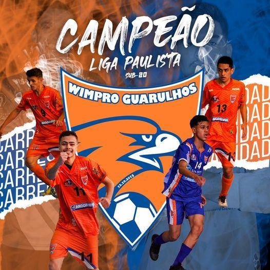 Wimpro/Guarulhos do goleiro boliviano Yerko Mauricio campeão do torneio paulista de futsal 2021