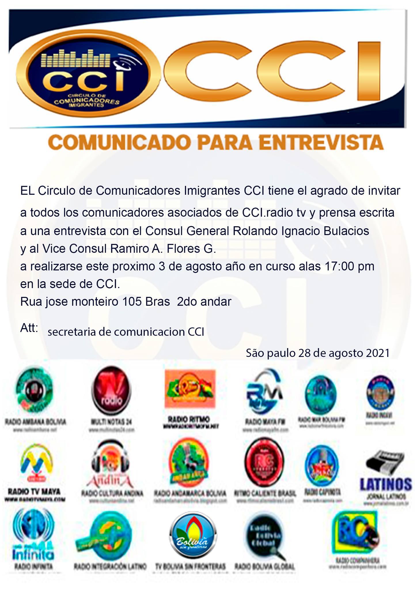 Entrevista com autoridades consulares da Bolívia em São Paulo