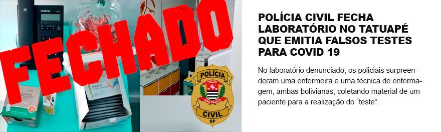 Laboratório clandestino de amigo do cônsul boliviano, realiza testes de covid-19 para estrangeiros que querem sair do Brasil