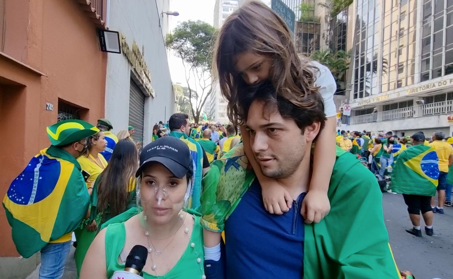 Manifestantes pró Bolsonaro lotam a Paulista no domingo 7 de setembro em São Paulo